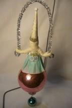 Vntage Inspired Spun Cotton, Girl on Glass Ball,  no.97 image 2