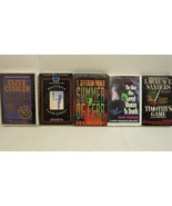 Lot of 5 Books on Cassette Audio Thriller Stories by Cussler, Parker, an... - $23.65