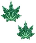 Glitter Pot Leaf Nipple Pasties - $10.99