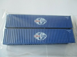 Fox Valley Models # FVM 891102 CMA CGM 40' Corrugated Container 2/Pack N-Scale image 1