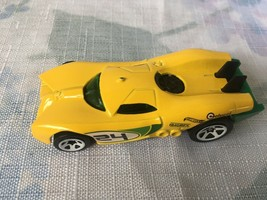 Hot Wheels Prototype H-24 2007 Yellow/Green Mattel Car (Loose) - $2.95