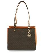 Michael Kors Large Sofia Tote Bag Brown / Acorn Monogram PVC Handbag - $445.53