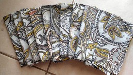 """Napkins 11 Cloth Dinner Paisley Browns Gold Off White 17"""" x 17"""" Preowned... - $27.99"""