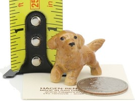 Hagen Renaker Miniature Dog Golden Retriever Pupppy Ceramic Figurine image 2