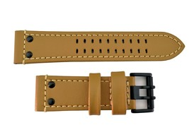 GenuineLuminox 26mm Light Brown 1920 1940 watch Band Strap Black Buckle ... - $80.95
