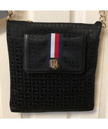 Tommy Hilfiger Black Signature Cross Body Purse New With Tags - $78.00