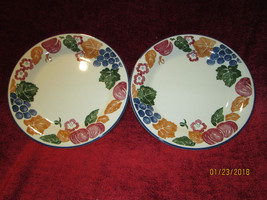 Staffordshire tableware chianti set of 2 salad plates - $9.85