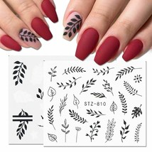 Slider Nail Art Sticker Water Decals Decor Leaf Flower Tattoo Manicure A... - $6.49