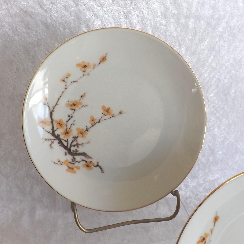 "Bareuther Waldsassen 5"" Bread-Butter Plates Bavaria Pattern Fine China (1 Pair)"