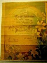 1907 Antique German/US Baptismal Certificate & Baptised Murder, Anna Franke - $39.59