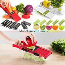 Cortador de verduras con hoja de acero Patata Zanahoria Rallador Verdura - $22.43
