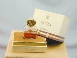 Vintage Parfum 1 By Gucci Bottle In Presentation Box 6ml 1/5oz France - $64.99
