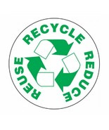 Reuse Recycle Reduce Sticker Decal R1093 - $1.45 - $9.45