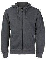 Men's Cotton Blend Zip Up Drawstring Fleece Lined Sport Gym Sweater Hoodie image 4