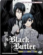 Black Butler Kuroshitsuji Complete 1 - 3 + Movie + 9 OVAs Eng Dub Ship From USA