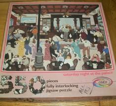 Vintage Jigsaw Puzzle 550 Pcs Saturday Night Dance Hall Palace Folk Art Complete - $16.82