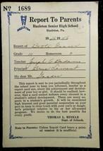 1946 antique BETTE GASSER high school REPORT CARD hazelton pa - $22.50