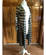 LuLaRoe Elegant Sarah Purple & Gold Metallic  Cardigan Duster XS - $24.75