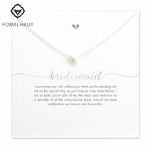 Bridesmaid Simulation Pearl Pendant Chain Necklace Fashion Women Weeding Jewelry - $9.99