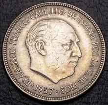 1957 (1963) Spain 5 Pesetas Coin - Great Condition - $2.46