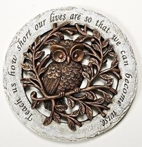 Wise Owl Bronze Tree Limbs 12 inch Resin Stone Decorative Stepping Stone - $19.63