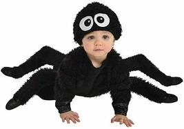 Amscan Spider Crawler Plush Furry Jumpsuit Hat Infants Halloween Costume... - $53.40