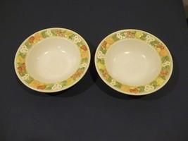 """Very Nice Vintage Set Of 2 Metlox Vernon Ware DELLA ROBBIA 9 3/4"""" Serving Bowls - $6.92"""