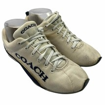 Coach 6.5 US M Women Sneakers Athletic Shoes White Melody F0007/D12 Made - $17.79