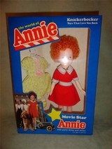 Vintage 1982 Knickerbocker Movie Star Annie Doll Shoes & Party Dress 383... - $13.99