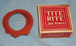 Vintage Early 1900 Box TITE RITE Jar Rings 1 Dozen Crunden Martin Mfg St... - $3.79