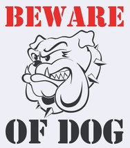 Beware Of The Dog Gate House Garden Security Pet Sign/Sticker - $5.15
