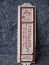 "Vintage ""L&M Meats Metal Thermometer Deco Design - $24.74"