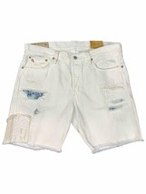 NEW Ralph Lauren Polo Mens Varick SULLIVAN Slim Straight Shorts Super Worn White - $73.99