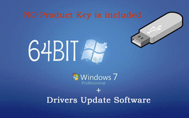 Microsoft Windows 7 Professional 64bit ReInstall Recovery Repair DVD Dri... - $16.48