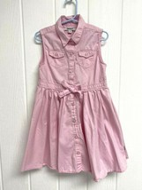 DKNY toddler girls shirt dress sleeveless pink button front size 6 - $12.21