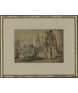 Harold Hope Read (1881-1959) - Framed Pen and Ink Drawing, Holiday Makers - $478.02