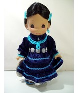 """PRECIOUS MOMENTS SILVER MOON INDIAN FAMILY 8""""  VINYL DOLL WITH TAG #1562 - $22.49"""