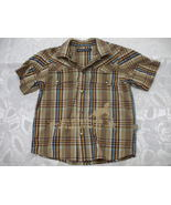 Toddler's brown short sleeve shirt 4 years old - $8.99