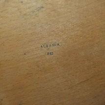 Albania Wood Plate Vintage Wall Art image 4