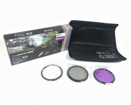 Vivitar 67mm Multi Coated 3 Piece Filter Kit UV CPL FLD VIV-FK3 + Filter... - $9.89