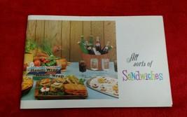 Vintage 1960s Sandwich Cookbook Advertising Promo HANDI-WRAP FRITO LAY &... - $7.72