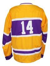 Any Name Number Nashville Dixie Flyers Retro Hockey Jersey New Yellow Any Size image 5