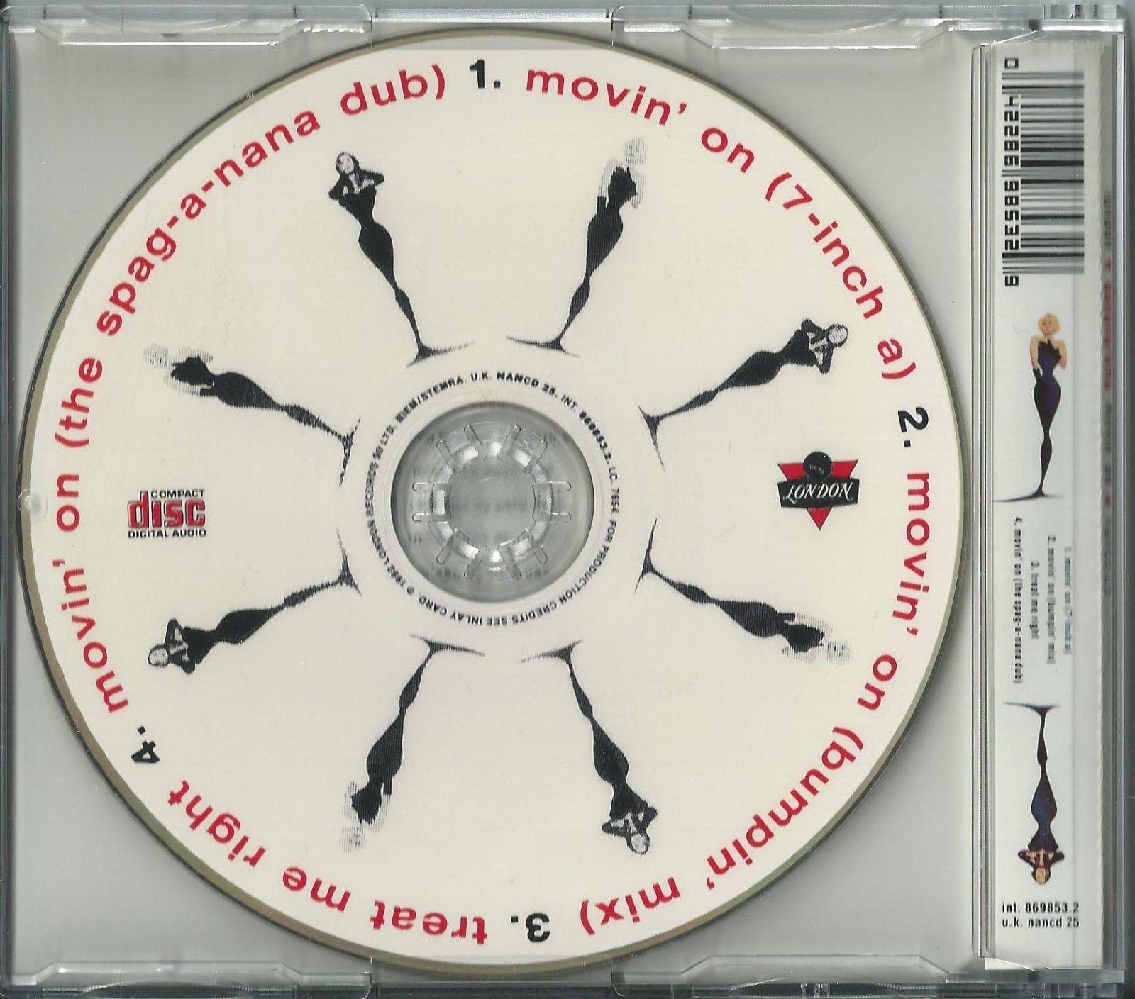 BANANARAMA - MOVIN' ON / TREAT ME RIGHT 1992 UK 4 TRACK CD SINGLE NANCD25