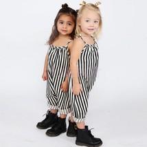 Kids Baby Girls Retro Backless Overalls Romper Jumpsuit Playsuit Summer ... - $24.10