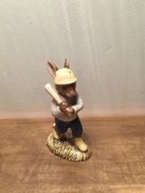 Royal Doulton Home Run Bunnykins Baseball Player at Bat Figurine DB43 - $29.69