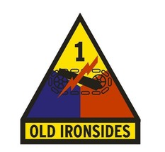 US Army 1st Armored Division Old Ironsides Vinyl 4'' Sticker - $9.89