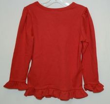 Blanks Boutique Long Sleeve Ruffled Shirt Color Red Size 3T image 4