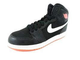 Nike Air Jordan 1 Retro High GP Boys Shoes 705321 028 Leather Black/Hot ... - $54.99