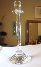 """Waterford 12 1/2""""  """"Freshwater Downpour"""" cut crystal SINGLE candlestick - $27.99"""