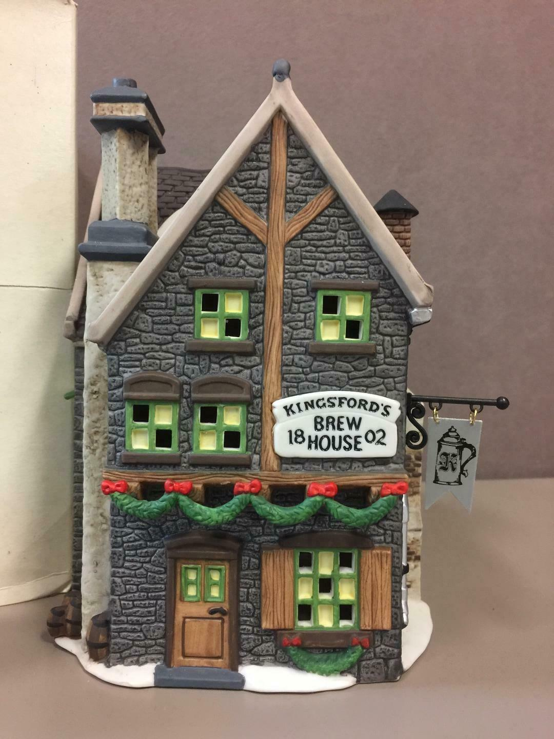 Primary image for KINGSFORD'S BREW HOUSE, DICKENS VILLAGE #58114, Dept. 56, IN ORIGINAL BOX